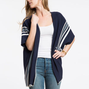795bf5ef7c0 Marine Layer - The Cameron Poncho (NAVY CREAM) ...